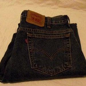LEVIS 550 Blue Straight Leg Mens Jeans W36 L30
